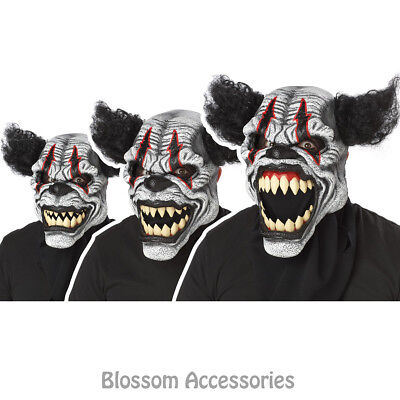 A629 Last Laugh Clown Evil Ani-Motion Mask Halloween Scary Costume Accessory