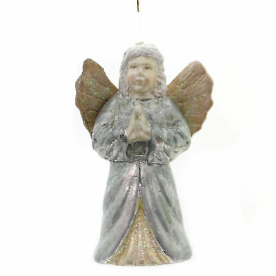 Holiday Ornaments SUGAR FROSTED BRONZED ANGEL Ornament Religious Ta190