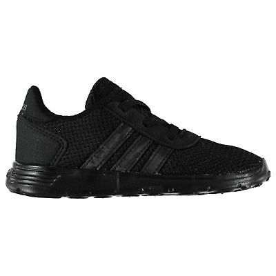 adidas Kids Boys Lite Racer Infant Trainers Runners Breathable Padded Ankle