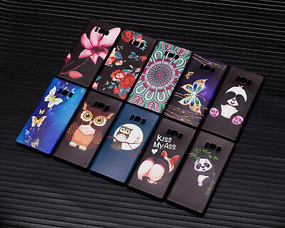 10pcs/lot Embossed Owl Flower Cover TPU Gel Soft Case for Samsung Galaxy Note 8