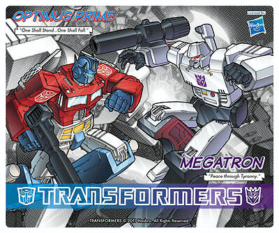 TRANSFORMERS G1 Optimus Prime vs Megatron Official Licensed mouse pad *NEW*