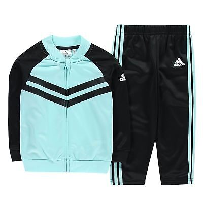 adidas Kids Boys FB Tracksuit Infant Poly Long Sleeve Zip Full Print Elasticated