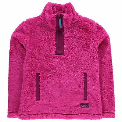 Gelert Kids Yukon Micro Fleece Top Juniors Quarter Zip Sweatshirt Jumper Long