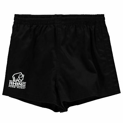 Rhino Rugby Kids Boys Twill Shorts Junior Pants Trousers Bottoms