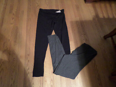 Serra NWT 2 Pairs Maternity Leggings size L Black & Gray Stretchy & Comfy