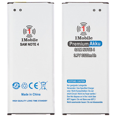 (1Mobile) Samsung Galaxy Note 4 N910F EB-BN910BBE Akku Battery Batterie 3320 mAh