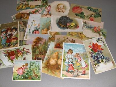 Lot of  130 Victorian Trade Cards  NO ADVERTISING c 1880s