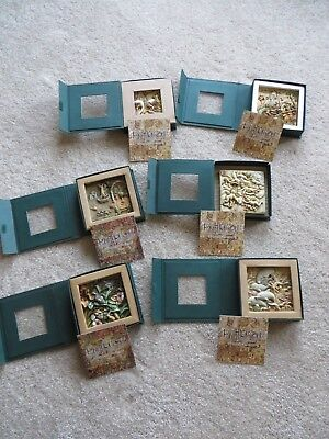 "Lot of 6 Harmony Kingdom Picturesque 4x4"" Tiles~W/Papers & In Original Boxes!"