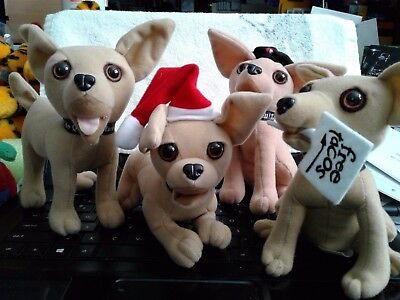 Set of four (4) TACO BELL Chihuahuas