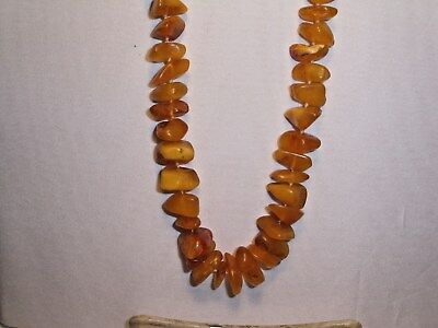 NATURAL BALTIC AMBER NECKLACE ~ #14 ~ OPAQUE w/ SOFT POLISH - UNUSUAL!!