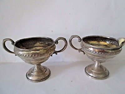 Vintage Hamilton Sterling Silver Creamer & Sugar 220 Grams - Weighted