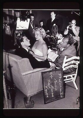 35mm B&W transparency/slide candid photo marilyn monroe &robert wagner taken1951