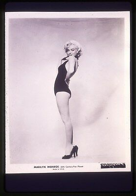 35mm B&W transparency/slide pin-up photo of sexy marilyn monroe in 1952.