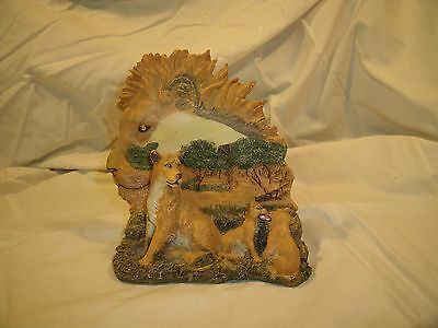 Home Decor Safari Collectible Resin Lion, Lioness & Cubs Figurine