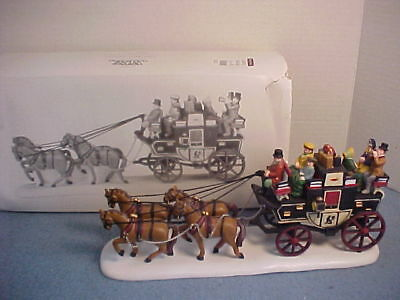 Dept 56 Heritage Village HOLIDAY COACH MINT in Box Original Retail: $70
