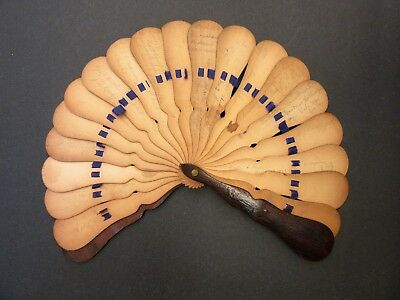 1860's~Antique~Hand Fan~Wooden~Multiple Autographs~1868-1874~Missouri~YALE