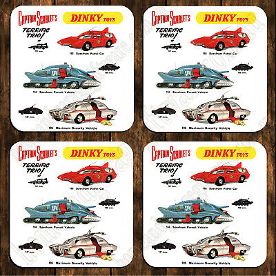 Drink Coaster Set Of 4 - Dinky Toys Captain Scarlet