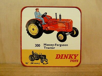 Drink Coaster Set Of 4 - Dinky Toys No.300 Massey Ferguson Tractor