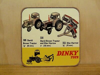 Drink Coaster Set Of 4 - Dinky Toys David Brown Tractors