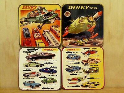 Drink Coaster Set Of 4 - Dinky Toys Tv & French - One Set Only At This Price!