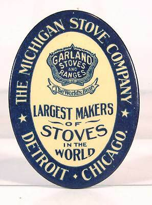 ca1910 CELLULOID ADVERTISING POCKET MIRROR - GARLAND STOVES AND RANGES