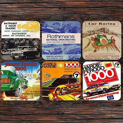Drink Coaster Set Of 6 - Bathurst, James Hardie Ferodo 500, 1000