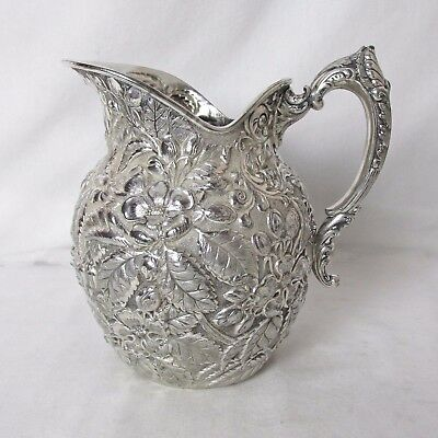 Silver Plated Repousse Water Pitcher C: 1874 – 1898 Rogers Bros Exquisite