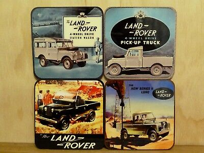 Drink Coaster Set Of 4 - Old Land Rovers