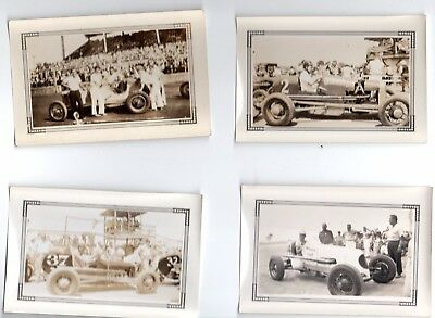 8 Vintage Race Car Original Photos 1940 S Very Good Shape  Part 4 Of 4