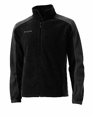 New Mens Columbia Rebel Ridge II Fleece Full Zip Jacket Size S Black/Grey $60