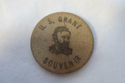 Vintage 1972 Wooden Nickle Bethel Ohio 150th Anniversary, U.S. Grant