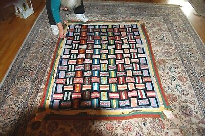 vintage hand made quilt no reserve must see!!