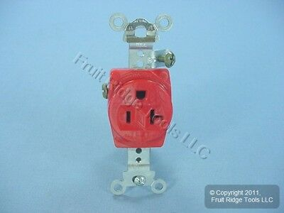 Cooper Arrow Hart Red Industrial Single Outlet Receptacle 5-20R 20A AH5361RED
