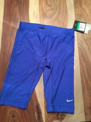 NIKE NX swim jammer trunks~NWT~boy's size 28 drawstring~royal blue~NEW~