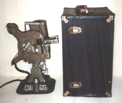 Vintage Keystone Model A-78 16mm Silent Movie Projector with Case Works