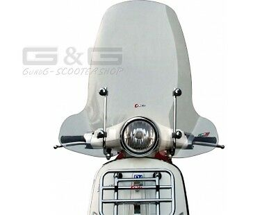 Windshield Windbreak High Faco Clear Glass Piaggio Vespa Primavera 50 125 Built
