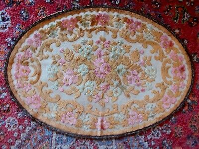 Large Vintage French Cut Velvet Place Mat For Table~Sideboard~Dressingtable