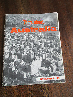 Vintage Booklet , Facts About Immigrating To Australia   November 1964