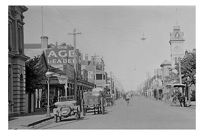KYNETON Mollison St 2nd view circa 1920s modern Digital Photo Postcard