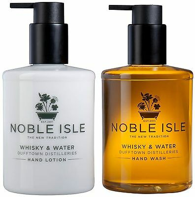 """Noble Isle Hand Wash / Hand Lotion """"Whisky & Water"""" & FREE Molton Brown 30ml"""