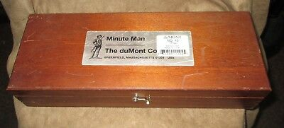 DUMONT MINUTE MAN Broach No. 10 Set 1/8 3/16 1/4 3/8 in Fitted Wooden Box