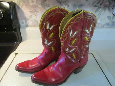 Vintage Acme Cowboy Boots HopAlong Cassidy Red GUC Size 5 1/2??