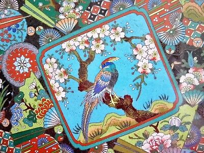 Extremely Rare Old Oriental Cloisonne Tray - Minute Detail - Chinese / Japanese