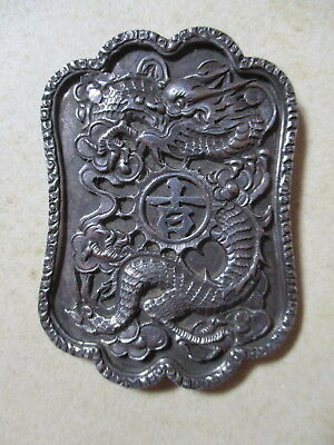 Large Antique Oriental Silver?? Brooch - Needs Pin