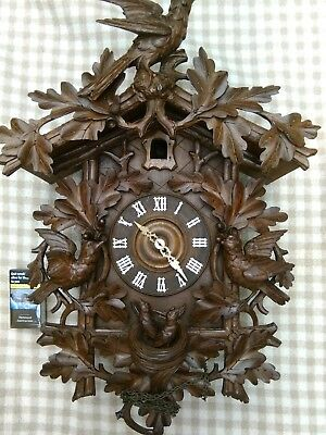 Large & Impressive 19c Black Forest Cuckoo Clock.