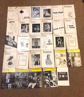 Playbill 1950's Broadway Collection - Lot of 28
