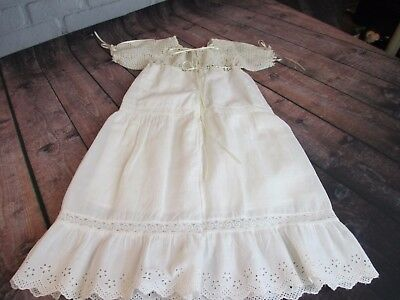 Antique Victorian Baby Gown Hand Made