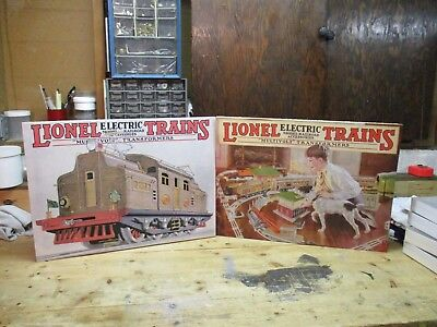 Lionel Pair Of Canvas Wall Prints 1926 , 1927 Catalog Covers #31016 And #31018