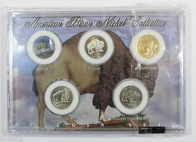 American Bison Nickel Collection 2005-Colorized, Hologram, 24k Gold - 77656