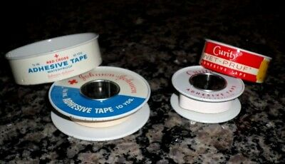 Vintage Adhesive Tape in Tins~Johnson & Johnson~Curity~